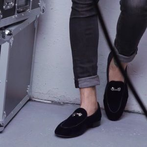 giuseppe zanotti NIB baby velvet loafer